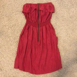 Dresses & Skirts - Silk Strapless Dress